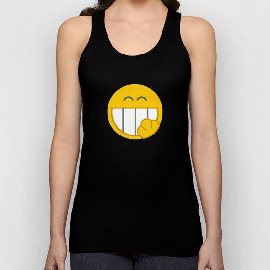 yellow smile Unisex Tank Top