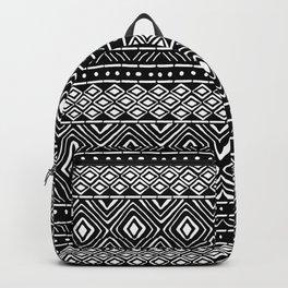 African Mud Cloth // Black Backpack