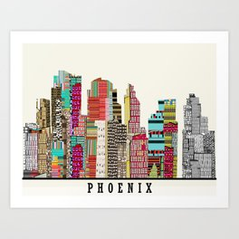 Phoenix skyline Art Print