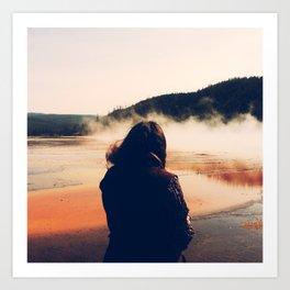 Hot Springs Onlooker Art Print