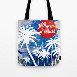 Beach Palm tree Tote Bag
