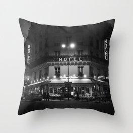 Hotel Paris Throw Pillow
