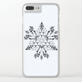 Tetrahedron Madness Clear iPhone Case