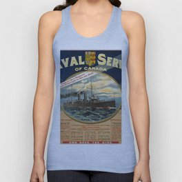 Vintage poster - Naval Service of Canada Unisex Tank Top