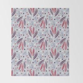 Hedgerow in grey Throw Blanket