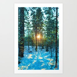 Fire and Snow Art Print