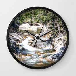 Merced River From the Mirror Lake Trail Wall Clock