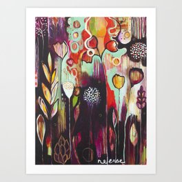 """""""Release Become"""" Original Painting by Flora Bowley Art Print"""