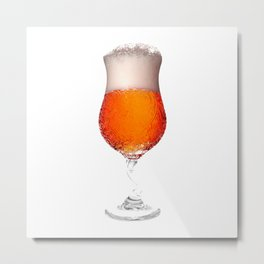 Elegant Beer Glass Metal Print