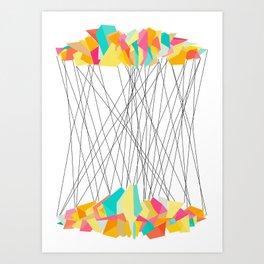 Strung Shapes Art Print