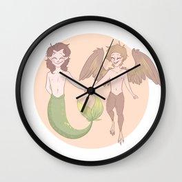 Little Merman & Harpy  Wall Clock