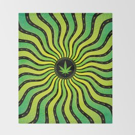 Marijuana energy | Sacred geometry mandala Throw Blanket