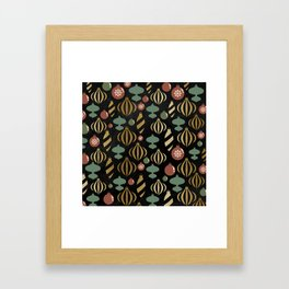 Chalkboard Christmas Pattern 01 Framed Art Print