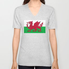 Flag of Wales - Welsh Flag Unisex V-Neck