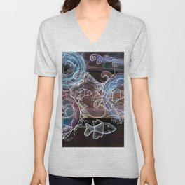 Life on the Earth at Night Unisex V-Neck