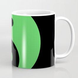 Yin & Yang (Green & Black) Coffee Mug