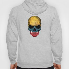 Dark Skull with Flag of Colombia Hoody
