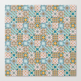 Patchwork pattern - mixed tile design colorful Canvas Print