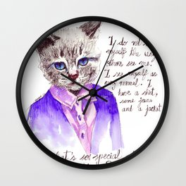 Fashion Mr. Cat Karl Lagerfeld and Chanel Wall Clock