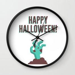 Happy Halloween Walking Dead Zombie Corpse Design Wall Clock