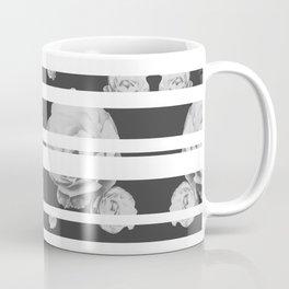 White Stipe Roses Coffee Mug
