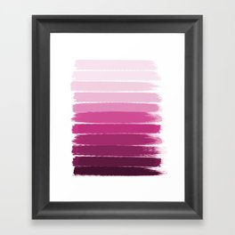 Dephne - ombre brushstrokes trendy colorful painting abstract art decor Framed Art Print