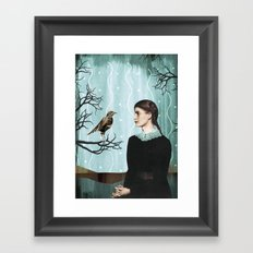 the mechanical bird Framed Art Print