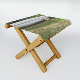 Curious Spotted Fawn Folding Stool