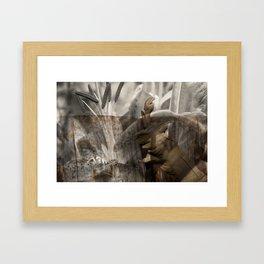 peek Framed Art Print