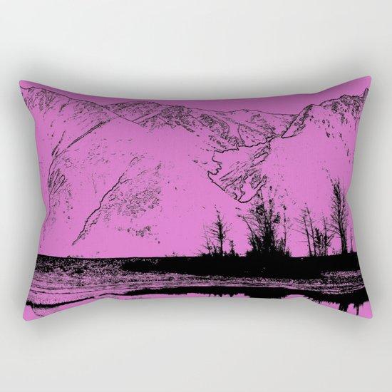 Knik River Mts. Pop Art - 5 Rectangular Pillow