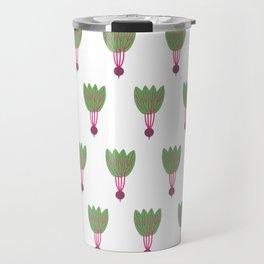 Pattern Purple Beet Travel Mug