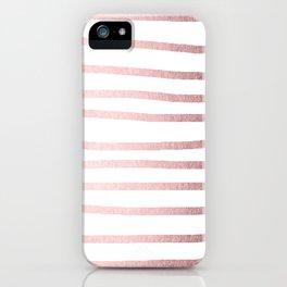 Simply Drawn Stripes Rose Quartz Elegance iPhone Case