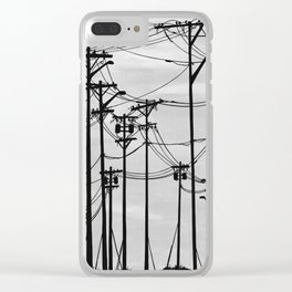 Industrial poles b&w Clear iPhone Case