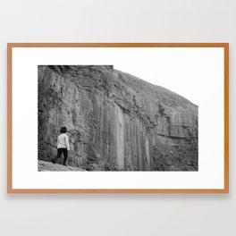 Into The Wild B&W Framed Art Print