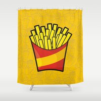 fries Shower Curtains featuring French Fries by Sifis