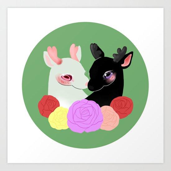 Lovely Deer Art Print