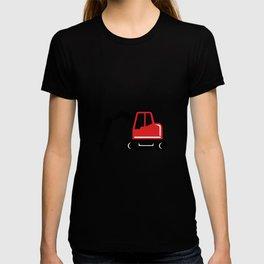 Mechanical Excavator Digger Retro Icon T-shirt