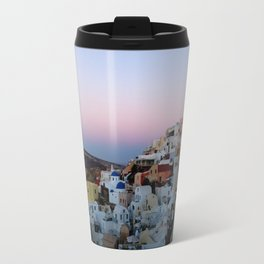 Dawn of Santorini Greece Travel Mug