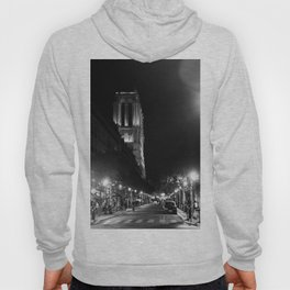 A View Looking Down the Rue D'Arcole at Notre Dame Cathedral, Paris, France Hoody