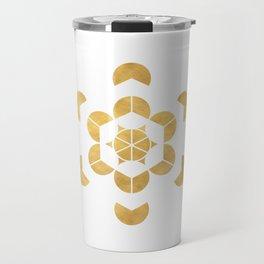 HEXAHEDRON CUBE sacred geometry Travel Mug