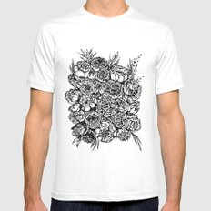 Wedding Flowers White Mens Fitted Tee MEDIUM