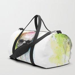 Skull Rainbow Watercolor Duffle Bag