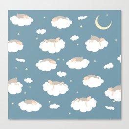 Sleeping sheeps Canvas Print