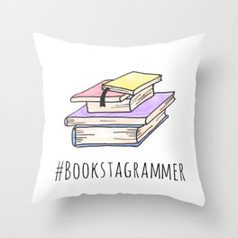Bookstagrammer Throw Pillow
