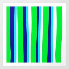 Beach Ball Stripes Art Print