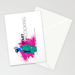 Start Peacocking Stationery Cards
