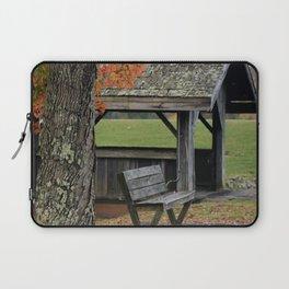 Autumn Covered Bridge 2 Laptop Sleeve