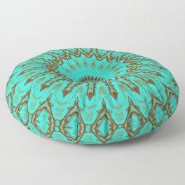 Kaleido in Oxidized Copper Floor Pillow
