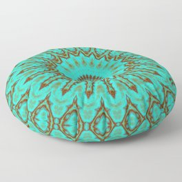 Kaleido in Oxidized Copper Floor Pillow