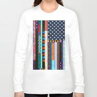 boho Long Sleeve T-shirts featuring Boho America by Schatzi Brown